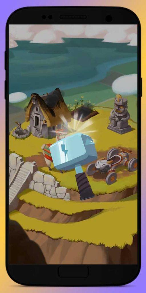 attack friends village with Hammer