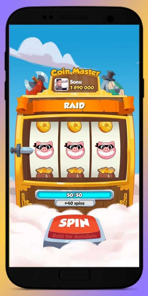 Get Pig Bandit in Slot Machine and Raid other player village