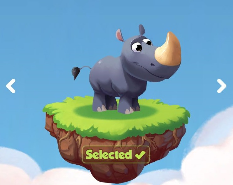 Rhino the last pet in Coin Master game